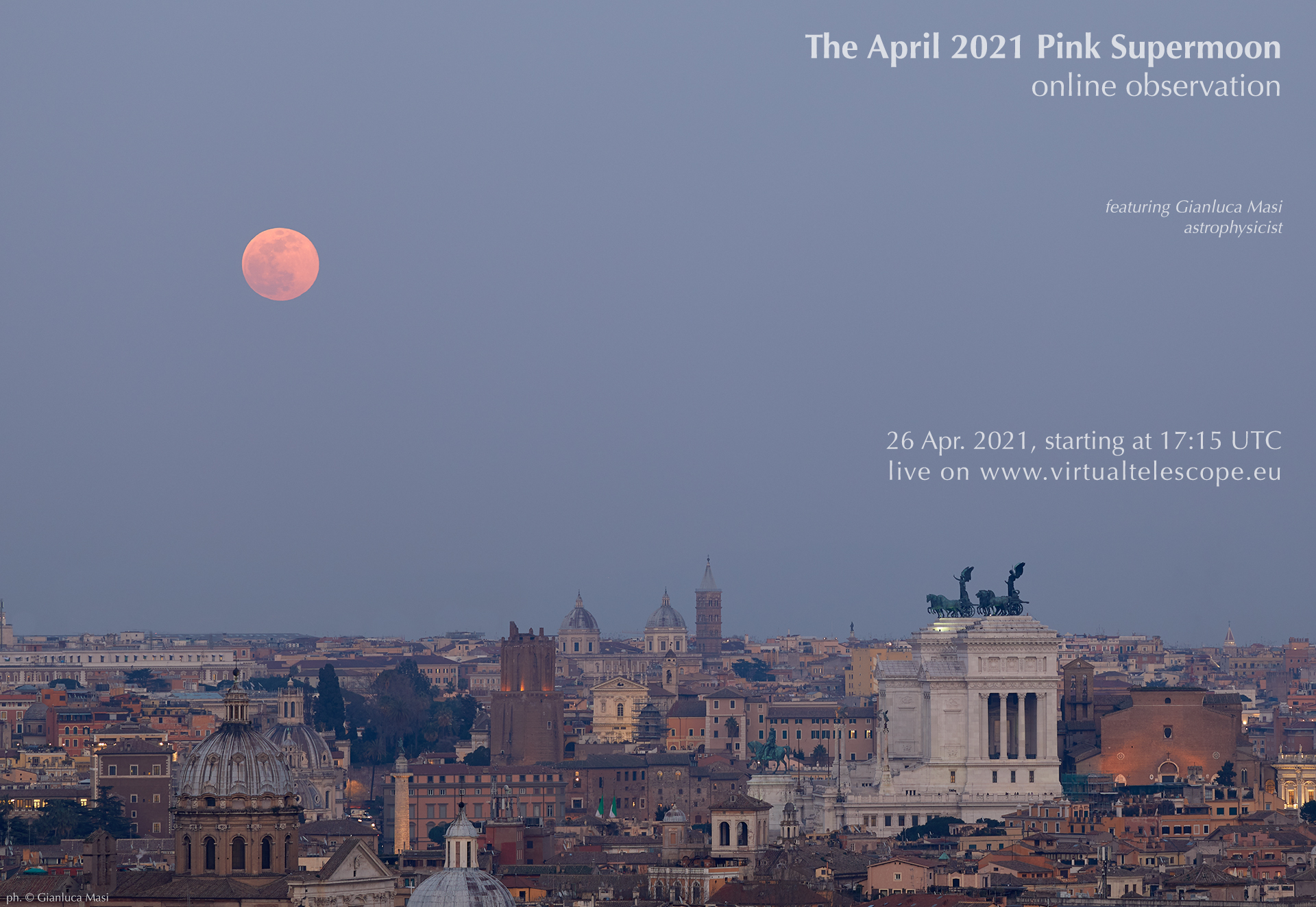 The April 2021 Flower Supermoon - poster of the event.