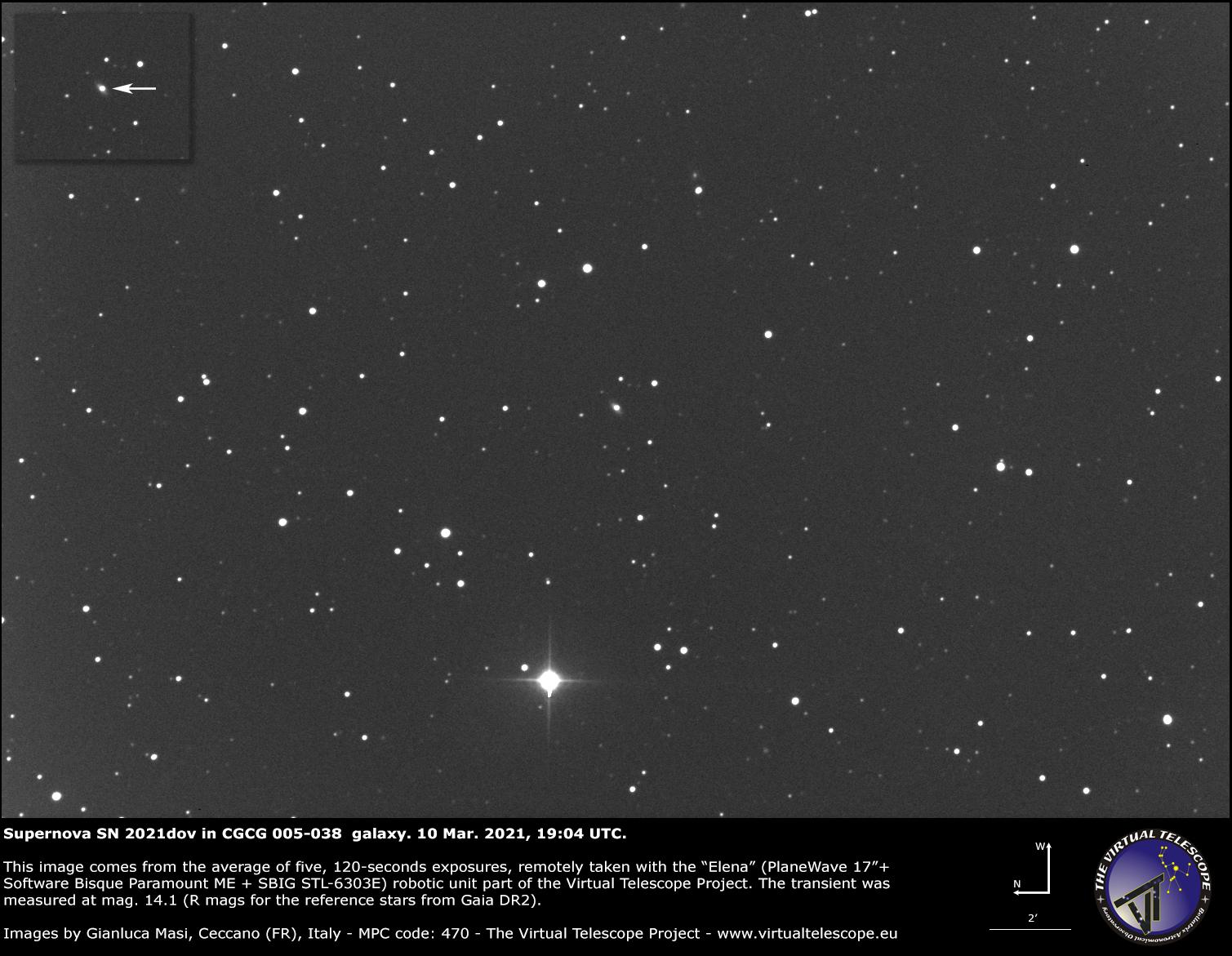 Supernova 2021dov in CGCG 005-038 galaxy: 10 Mar. 2021.