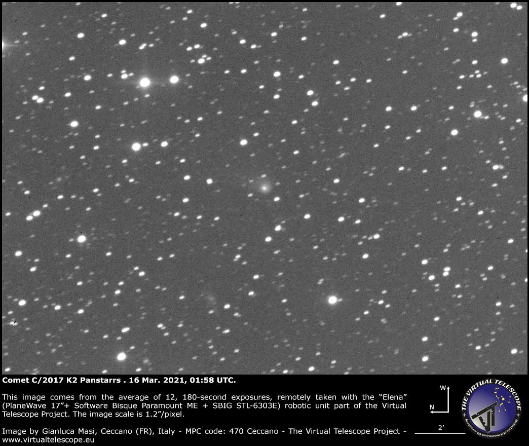 Comet C/2017 K2 Panstarrs: 16 Mar. 2021.