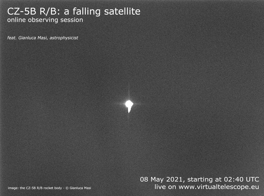 """""""CZ-5B R/B, a falling satellite"""": poster of the event"""