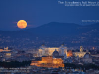 The June 2021 Strawberry Supermoon - poster of the event.