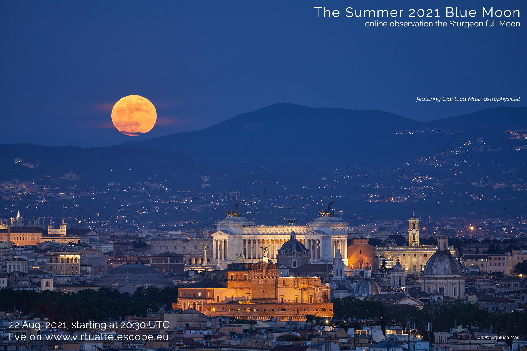 The Aug. 2021 Blue Moon: poster of the event
