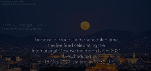 International Observe the Moon Night 2021: online observation - 18 Oct. 2021